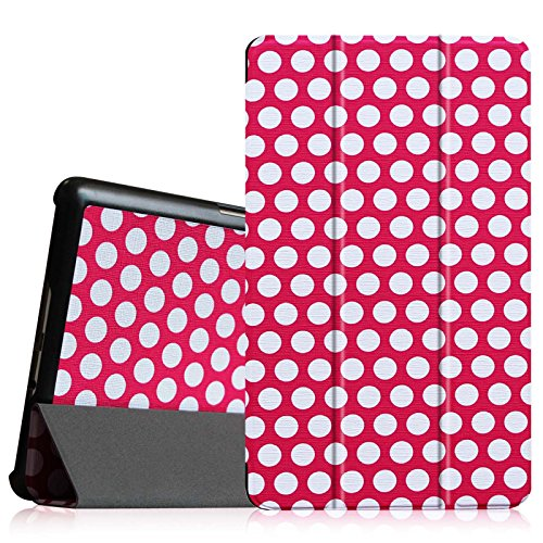 Fintie Samsung Galaxy Tab S 8.4 (8.4-Inch) SlimShell Case - Super Thin Lightweight Stand Cove with Auto Sleep/Wake Feature, Polka Dot