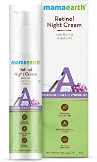 Mamaearth Retinol Night Cream For Women with Retinol & Bakuchi for Anti Aging, Fine Lines and Wrinkles – 50 g