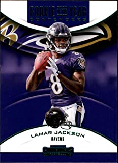 2018 Panini Contenders Rookie of the Year Contenders Emerald #RYA-LJ Lamar Jackson Baltimore Ravens NFL Football Trading Card