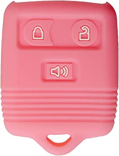 qualitykeylessplus Protective Rubber Silicone Cover for 3 Button Ford Keyless Entry Remote Fobs FCC ID: CWTWB1U331 Part #213T-15K601-AB with Keytag Return Service