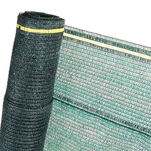 HaGa® Schattiernetz (Meterware) - Grünes Netz in 4 m Breite mit 60{7dfca6616bff99a8264ce10716618f45920324ec4889535ea07d46e8c440e012} Schattierwirkung - Sonnenschutzgewebe