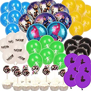 9281b0ec51c Video Game Party Supplies for Gaming Party Balloons Decorations- 52pcs with  8 Foil Balloons and
