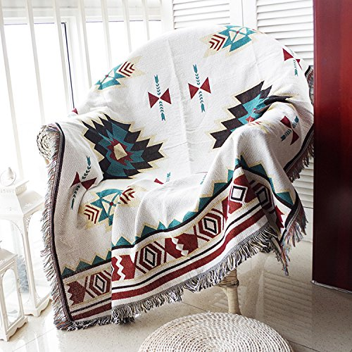 Buy Bargain Simple Modern Cotton Thread Knitted Blanket, Sofa Cover, Dust-Proof Cover, Double Man So...