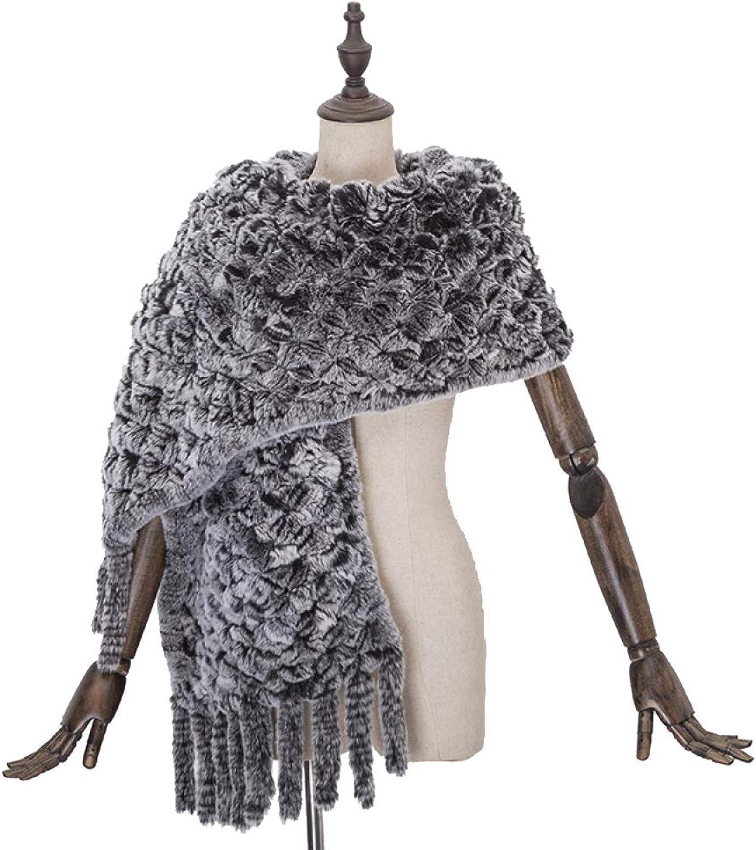 LIULIFE Large Shawl Scarf Tassel Warm Woven Wool Cape Poncho Autumn Winter Women's Sweater
