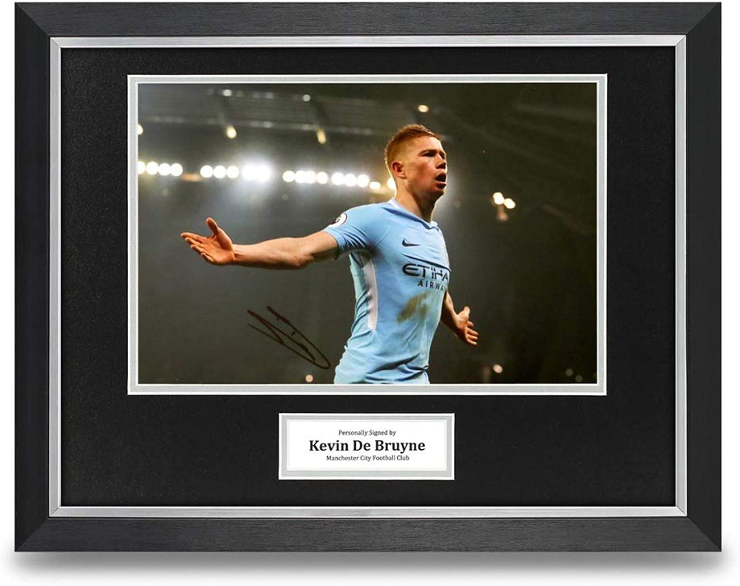 Kevin De Bruyne Signed 16x12 Framed Photo Display Man City Autograph Memorabilia
