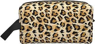 حقيبة مكياج كبيرة للسفر حقيبة مستحضرات التجميل منظم أدوات الزينة حقيبة سفر إكسسوارات للنساء والفتيات, ليوبارد كلاسيك, 10*...