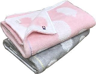 今治タオル ブランド認定 ハリネズミ柄 バスタオル 2枚組 60x120cm (ピンク1枚 グレー1枚)