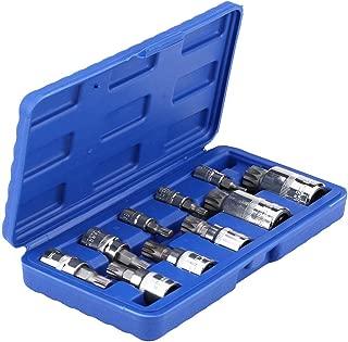 Qiilu 12 Point Triple Square Splined Bit Socket Set M4-M18 1/4