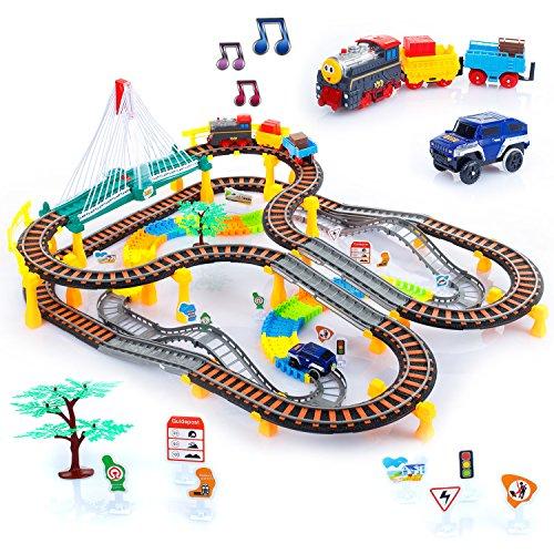Kinderplay Eisenbahn KP0635 Set Zug Waggons LOK Schienen Elektrische Eisenbahn Auto Neu Zug