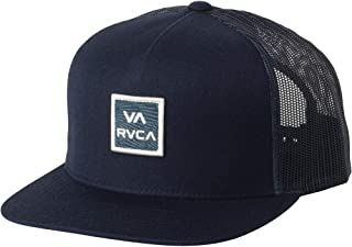 newest collection 1bf67 59419 RVCA VA All The Way Printed Mid-Fit Trucker Snapback Hat Black Camo