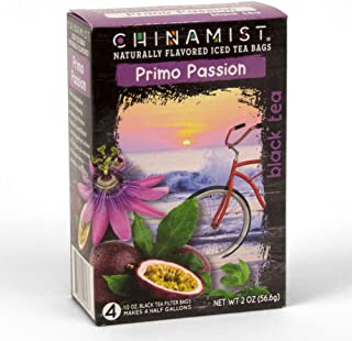 China Mist - Naturally Flavored Primo Passion Black Iced Tea Bags - Each Tea Bag Yields 1/2 Gallon