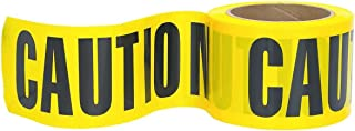 """RK High-Visibility Yellow Caution Barricade Tape 3"""" X 300 Feet, Tear Resistant Design (1 Roll)"""