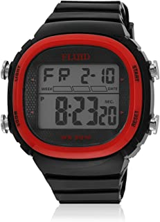 Kool Kidz Digital Grey Dial Boy's Watch (Red)