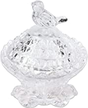 Fuji Premium Crystal Bird Shaped Glass Dappen Dish Holder with Lid Or Small Accessories Jewelry Holder. Design Unique. Bes...
