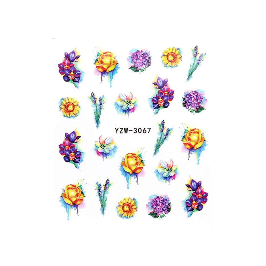 アイザックノイズ成熟したネイルシール ビビッドフラワーシール 花柄ネイル 押し花 薔薇 ローズ あじさい ひまわり ネイルアート