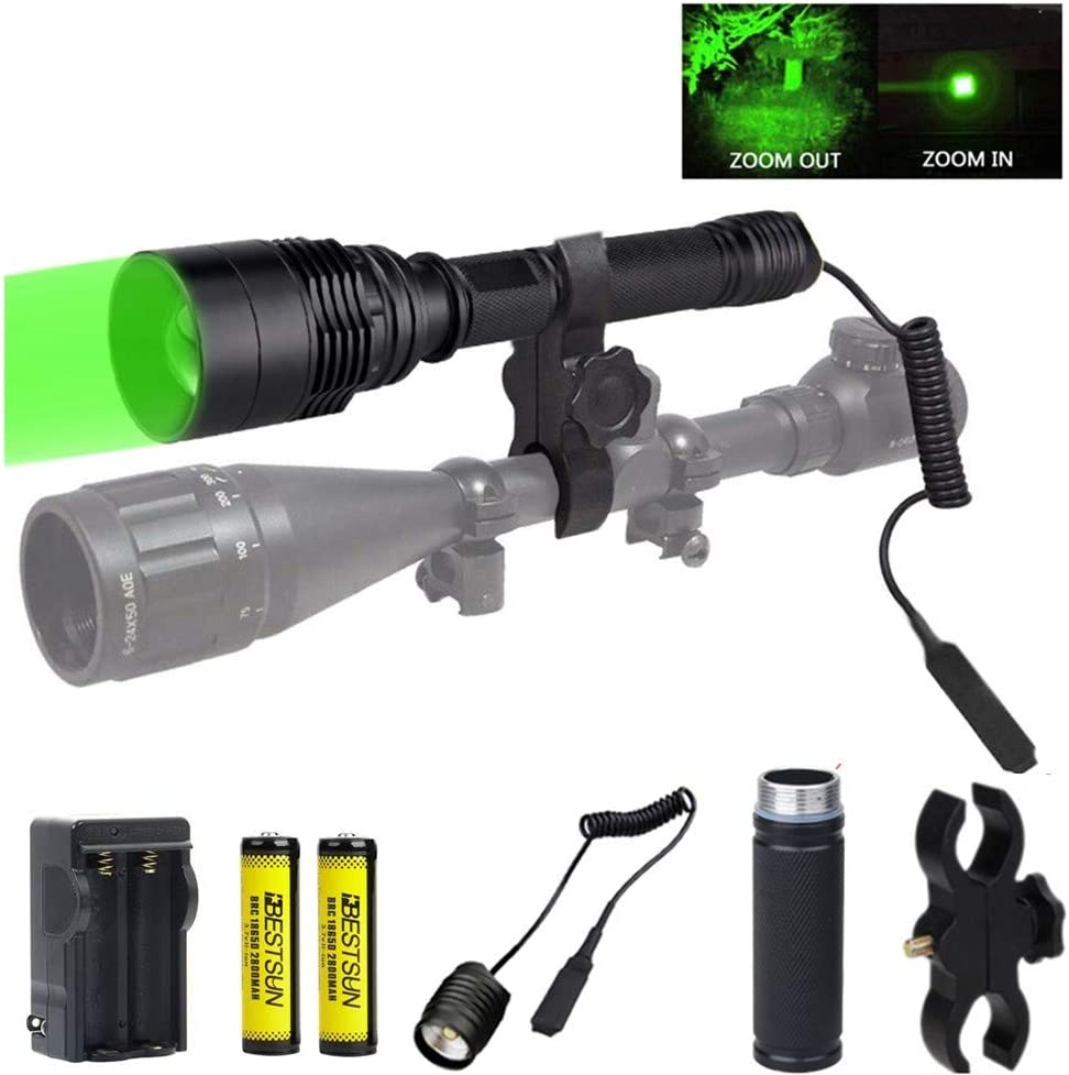 BESTSUN Hunting Flashlight 300 Yards with Tactical 5 Seasonal Wrap Introduction popular S