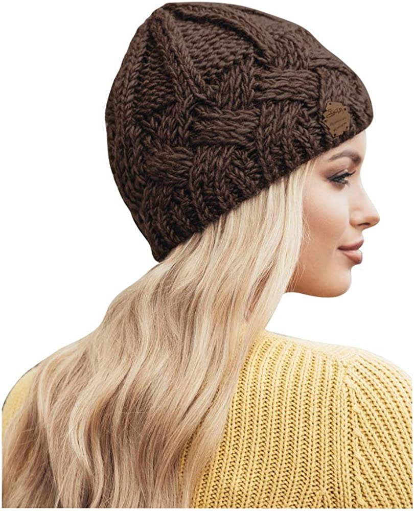 jerague Fashion Knit Beanie Hat for Girls W Stretch discount Women Winter Large-scale sale