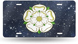 Yorkshire Rose County Flag Car License Plate Retro License Plates License Plate Tag 6