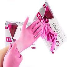 Luva Látex Descartável Rosa Pink Unigloves Com Pó Caixa Com 100 Original 50 pares para procedimento cartucho (G - GRANDE)