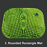 Reflexology Foot Massage Mat Stimulates Blood Circulation Acupressure Feet Massager Plate Board with Magnet (3. Rounded Rectangle Mat)