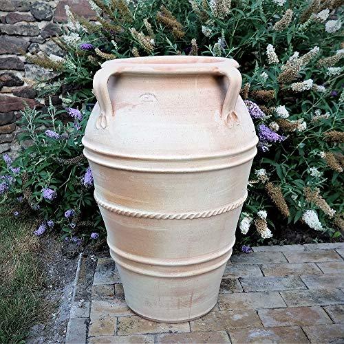 Kreta-Keramik | frostfeste und hochwertige Amphore/Pflanzgefäß mit Henkeln | 80 cm | handgefertigt | Garten Terrasse Datura