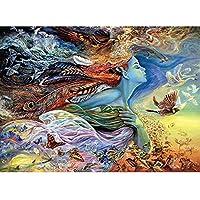 カラフルな抽象的なDIY油絵絵の具数字でアクリル絵の具キャンバス壁アート手描きの家の装飾40x50cm /フレームなし