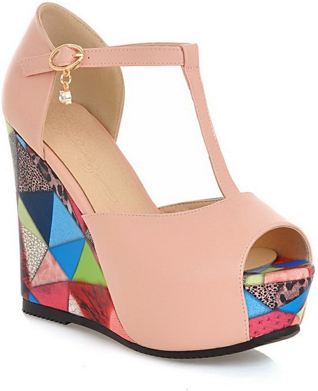 AdeeSu Womens High-Heels Casual Polyurethane Sandals