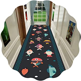 JIAJUAN Hallway Runner Rug, Home Contemporary Non-slip Area Rug - Kids Room Bedside Balcony Kitchen Floor Runners (Color :...