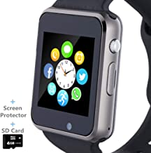 Smart Watch, Smartwatch Phone with SD Card Camera Pedometer Text Call Notification SIM..