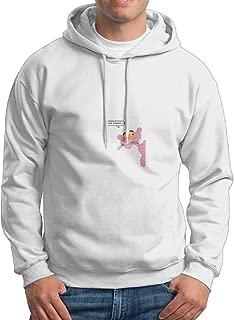 Pink Panther Men's Geek Long Sleeve Hoodies White