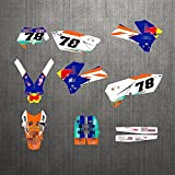 YHYPRESTER ZWFC001 Personalizado 3M Calcomanías de motocicletas Pegatinas Gráficos Gráficos Kit de decancia gráfica Compatible con K*T*M XCW SXF EXC XCF 125 150 200 250 300 350 450 450 500 2005 2006 2