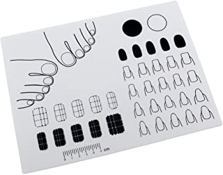 Cutelove Nail Art Silicone Mat Silicone Nail Art Stamping Mat Nail Practice Workspace Design Plate 1PC