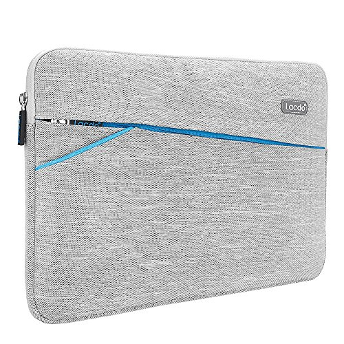 Lacdo 11-12 Zoll Wasserdichte Laptop Sleeve Hüllen Notebook Tasche für MacBook Air 11.6 Zoll / New Macbook / Surface Pro 4 3 / Acer, Asus, Dell, HP, Chromebook Ultrabook,Tablet,Grau