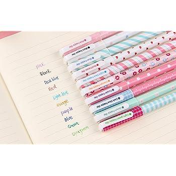 Creative cute little fresh Gel pens color pen 10 sets (10pcs)