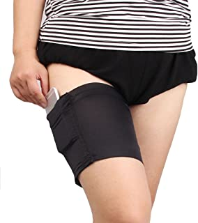 Las Mujeres De La Moda De Bolsillo Negro Elástico Anti-Rozaduras Bandas De Muslo Previenen Rozaduras Calcetines Para Mujer Calcetín