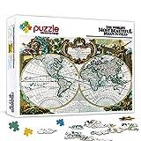 1000 Teile Puzzles für Erwachsene Geschichte der Weltkarte Familie Papppuzzles Brain Challenge...