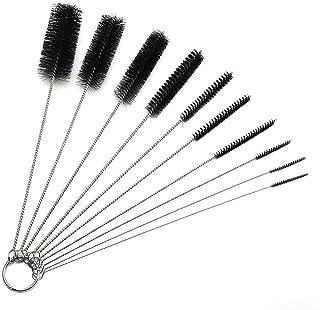 Long Straw Brush, Nylon Pipe Tube Cleaner 8.2-ihch 10 Different Diameters Set of 10