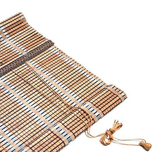 LIANGJUN Store enrouleur bambou Bande De Bambou Lumière De Couverture Étanche À La Poussière Couper Rétro Respirant Résistant À L'usure Balcon (Couleur : B, taille : 60x180cm)