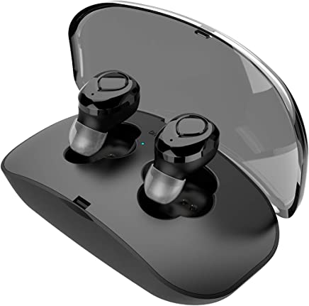 True Wireless Earbuds with Mic & Charging Case - AUDACIOUZ Mini Bluetooth Waterproof Earphones with Super Bass, Noise Isolation, Premium Quality Sound - Great for Music, Sport, Running, Video - Compatible with iPhones, iPads, Android Devices, Laptops