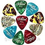 Alice – Mediators pour guitares et basses – 12 x mediators en celluloid – picks .81mm
