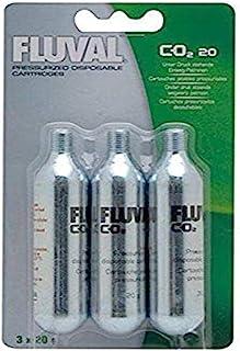 Fluval Mini Pressurized CO2 Cartridges, CO2 Supplement for Planted Aquariums, 20 grams, 3-Pack, A7541