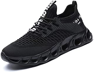 Chopben Men's Running Shoes Blade Non Slip Fashion Sneakers Breathable Mesh Soft Sole Casual Athletic Lightweight Walking ...