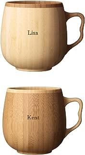 名入れ RIVERET 竹製 カフェオレマグ マグカップ ペアセット 木製 日本製