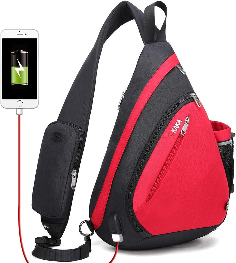 KAKA Sling Excellent Bag Crossbody Backpack Canvas Daypack Waterproof Cas Max 69% OFF
