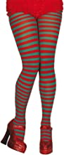 Wicked Costumes Red & Green Candystripe Tights - Adult Accessory Lady: STANDARD