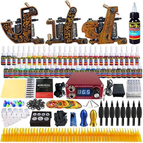 Machine De Tatouage Set Machine De Bobine De Puissance Trois Brouillard Secant De La Machine Équipement De Tatouage Outils De Beauté Verte De Tatouage