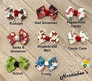 Christmas Tiny Tot Infant Hair Bows