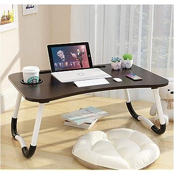 Tavolino da letto mgsten pieghevole per laptop con portabicchieri, scrivania portatile vassoio per colazione DNZ-01B