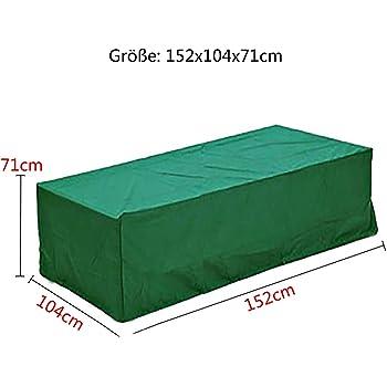 logei®Funda para Muebles de Jardín Funda Protectora para Mesas Impermeable, 152x104x71cm, Color Verde Oscuro: Amazon.es: Jardín