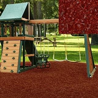 KIDWISE Swing Set Playground Rubber Mulch 75 Cu.Ft. Pallet-Cedar Red